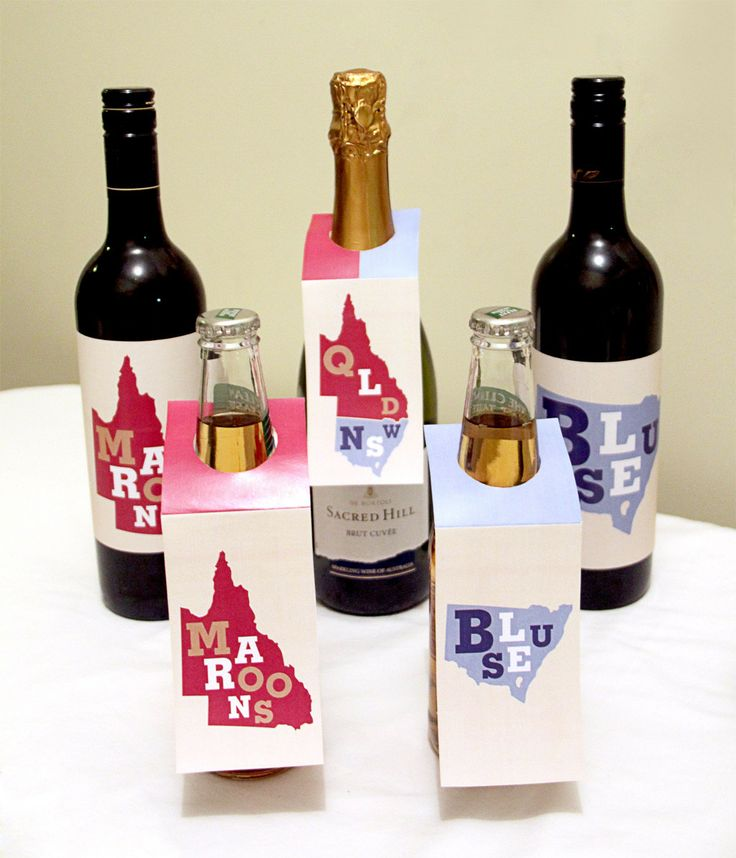 State of Origin Wine Bottle Labels and Sleeves | Creative Sense Co