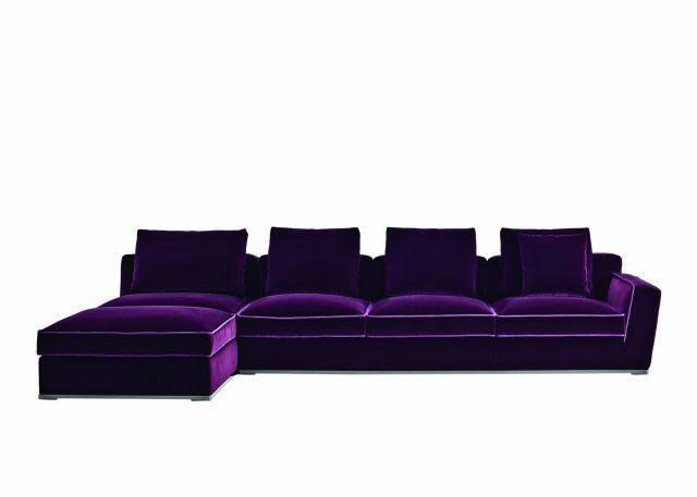 Canapé violet - Canapé Solatium - Maxalto