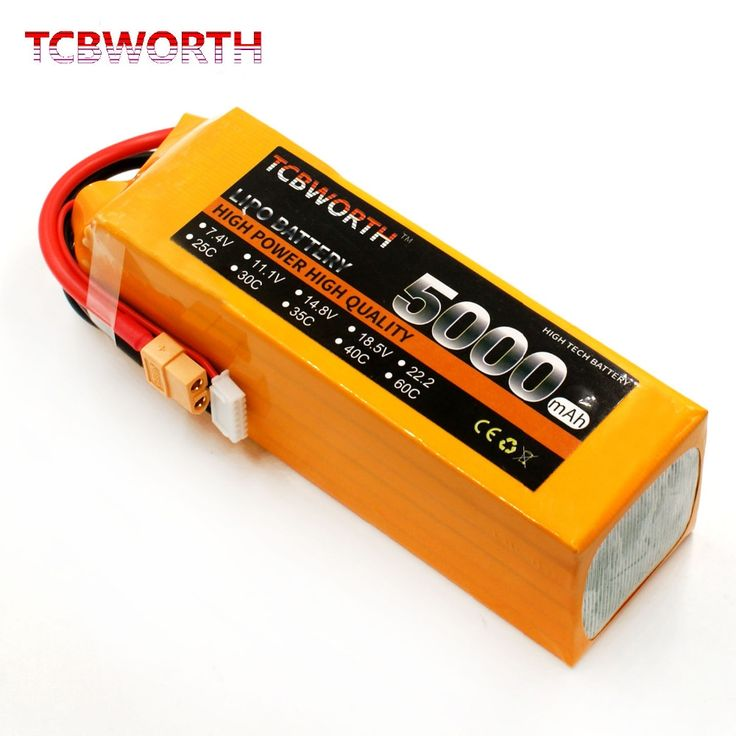 52.49$  Buy here - http://ali0pz.shopchina.info/1/go.php?t=32425494166 - TCBWORTH RC Aircraft Battery 6S 22.2V 5000mAh 30c for Airplane Drone Car Boat Tank  #bestbuy