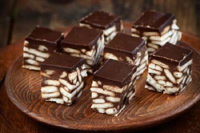 Περιβόλι της Παναγιάς: Πανεύκολα σοκολατένια κυβάκια με μπισκότα με 3 μόν...