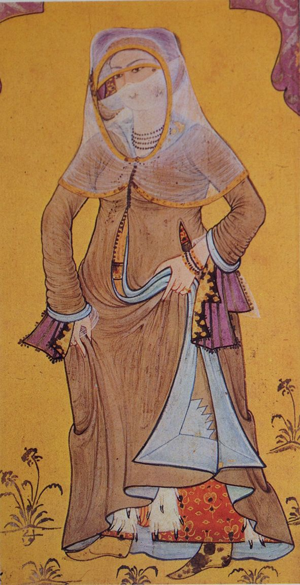 Minyatür-miniature. Lady from the Palace. Levni, 18th century.