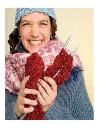 Pontos de tricô padrões para iniciantes