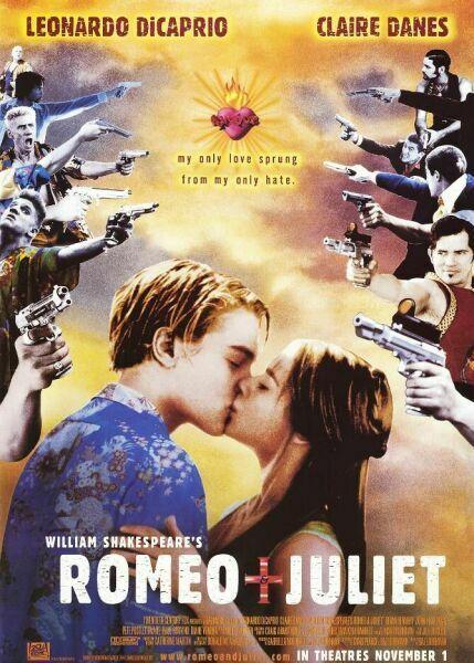 Oh no!Film, Movie Posters, William Shakespeare, Clear Danes, Romeo, Baz Luhrmann, Leonardo Dicaprio, Favorite Movie, Juliet 1996