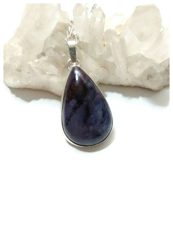 Beautiful Sugilite Cabochon Pendant Set in Sterling Silver by EnchantedCrystalDsgn - $55