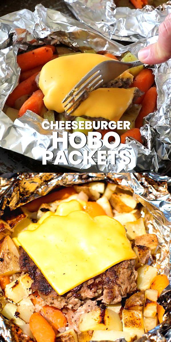 Hobo Cheeseburger Packs   – Foil Packet Meals