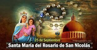 Resultado de imagen para www.santuario de la Virgen del Rosario de San Nicolás