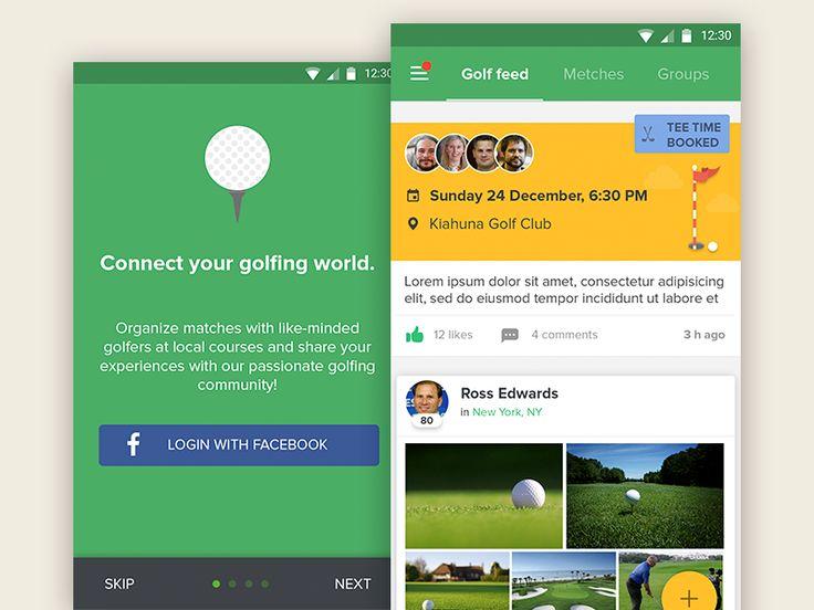 Golf app by Sergey Kamashkin