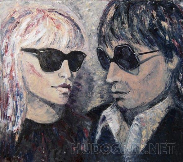 Игги Поп и Блонди Портрет американских музыкантов, пик популярности которых пришелся на 70-е-80-е годы. Игги Поп и певица из группы Блонди