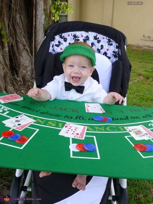 cute baby halloween costume with stroller blackjack dealer costume casino costume cute kids - Childrens Funny Halloween Costumes