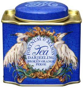 Fortnum & Mason - Darjeeling Broken Orange Pekoe. Producer: Fortnum & Mason Plc., Piccadilly, London, England Tea Type: Black - a blend of Darjeeling teas