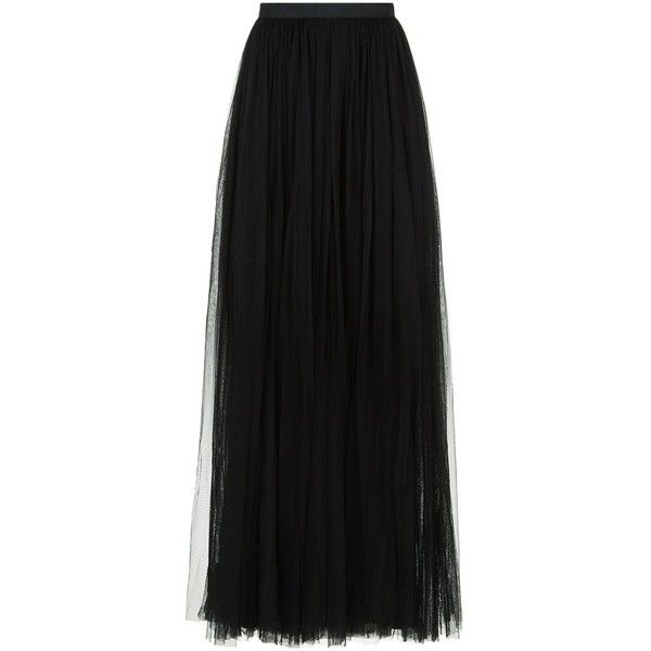 Needle & Thread Tulle Maxi Skirt ($155) ❤ liked on Polyvore featuring skirts, long layered skirt, embellished maxi skirt, metallic skirts, layered skirt and embellished skirts