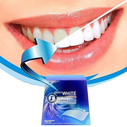 Grinigh® Blanchiment Dents Bande Professionnel Ultra-mince Anti-dérapant 28 Traitements Avec Saveur de Menthe Zero Peroxide Blanchiment Des…