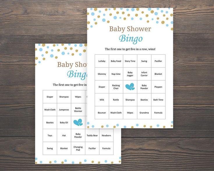 30 Prefilled #Baby Bingo, Baby #Shower Games, Baby Shower Bingo, 30