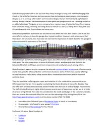 Get access to a wide range and styles of gates for installations as well as repairs with Gates Brooklyn http://www.docstoc.com/docs/173005841/Get-access-to-a-wide-range-and-styles-of-gates-for-installations-as-well-as-repairs-with-Gates-Brooklyn?key=undefined via @docstoc