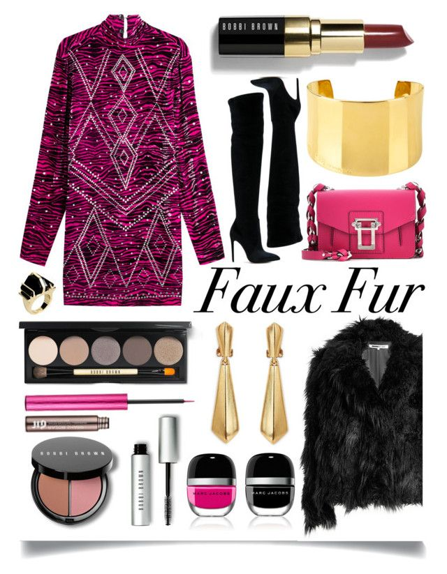 """Faux Fur For Fall"" by ittie-kittie ❤ liked on Polyvore featuring Just Cavalli, McQ by Alexander McQueen, Gianni Renzi, Bobbi Brown Cosmetics, Proenza Schouler, Urban Decay, Oscar de la Renta, Henri Bendel, Marc Jacobs and Intropia"