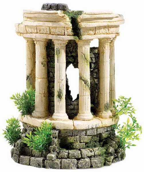 Roman Tower With Plants Aquarium Ornament Classic Brand Available From Seapets. Each Of The Roman Style Ornaments Is Designed Fit For Purpose From The Manuf