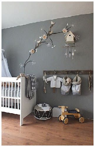love the old coat hooks its like the boy nursery version of the hanging branch idea i see in girls nurseries all the time and who says harry or ollie
