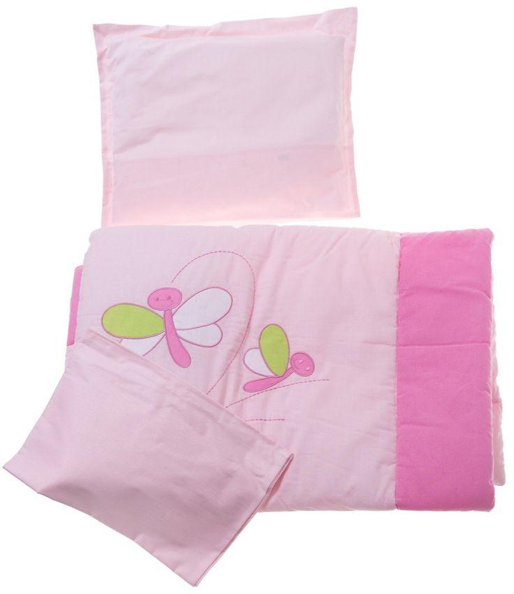 Lorelli σετ για βρεφικό κρεβάτι (κούνια) πάπλωμα-κατωσέντονο-μαξιλάρι-μαξιλαροθήκη «Butterfly» Κωδικός: 17227  €60,00