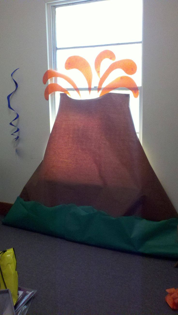VBS 2012...paricitun volcano...i made for VBS clinic