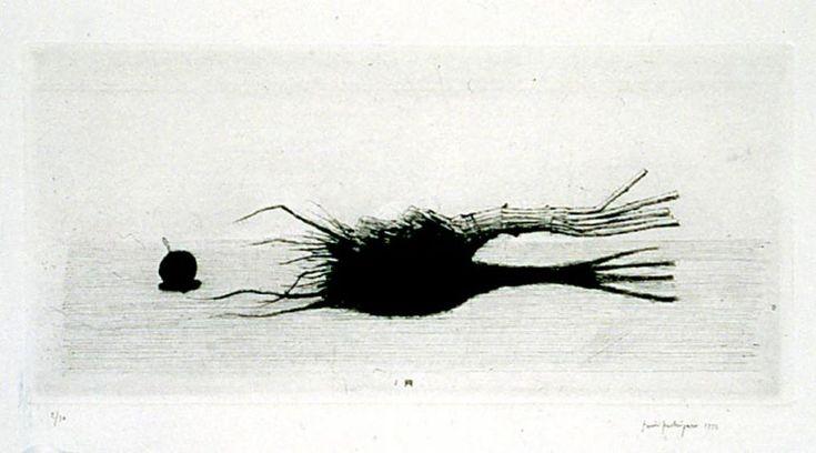 PPentti Kaskipuro, Kuiva lanttu 1993, kuivaneula, 14x30cm