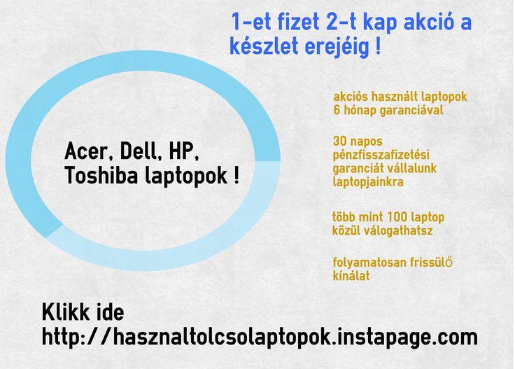 Használt #olcsó #laptopok garanciával !!! Folyamatosan bővülő kínálat, márkás termékek, laptop kiegészítők, akciók !