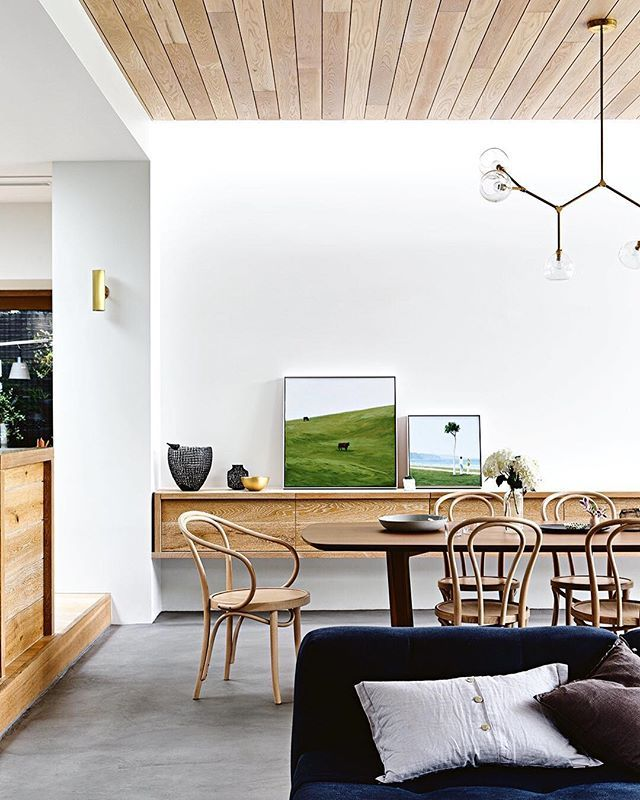 Good grains are here to stay. If you love the look of timber as much as we do, then you'll love this incredible home from last month's issue. Hit the link in our profile to tour this natural beauty. InsideOut  Produced by @carliphilips. Artworks by @sally.joubert. Styling by @rvigor. Photography by @derek_swalwell.