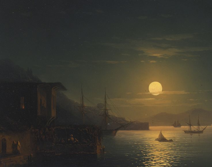 IVAN KONSTANTINOVICH AIVAZOVSKY MOONLIGHT ON THE BOSPHORUS