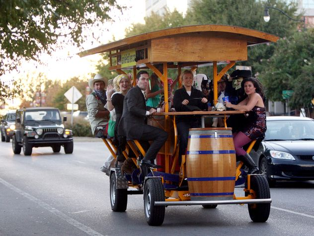 Nashville Pedal Tavern. This tour will get you and all your friends geared up for a fun night on the town with its 16-person tavern on wheels. Depending on the group's preferences, the tour typically makes between two to five stops at various bars and restaurants.   Great for: Groups, Bachelor and Bachelorette parties. #Nashville #MusicCity