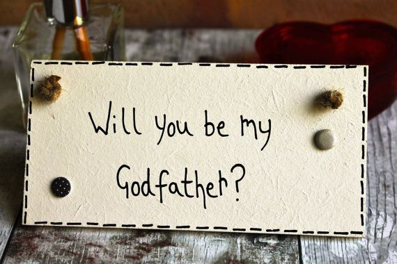 Will You be my Godfather - Godfather - Godfather Gift - Godparent -Personalised godfather -Godmother -Godmother Gift - Gift for Godfather