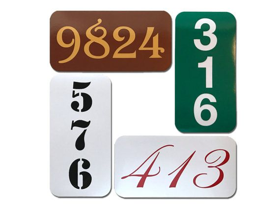 These address signs are ideal for mounting onto your house, fence, gate, mailbox post, etc. These signs are made with the same materials used by the sign industry for street signs. We use a quality engineering grade reflective vinyl that has a 7-year outdoor durability rating and we mount our signs on sturdy .063 aluminum blanks. Pick from a variety of fonts and colors (all reflective except black) to meet your exact stylistic preferences. Signs are 6x12 and can be made horizontally or…