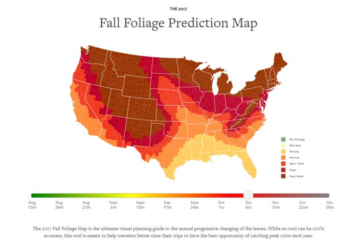 Once again, the Smoky Mountains fall foliage map is up!