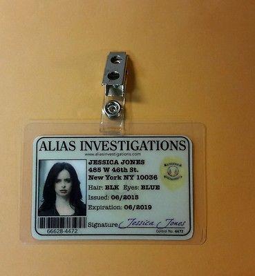 Jessica Jones ID Badge -Alias Investigations Jessica Jones prop cosplay costume