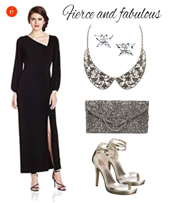 How to style a simple evening gown. #elegant #glamorous #classic