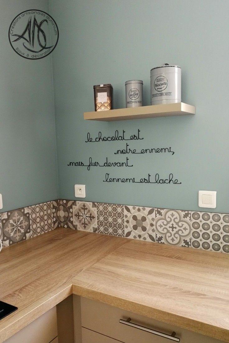 phrase murale en aluminium  Idée déco cuisine, Deco maison