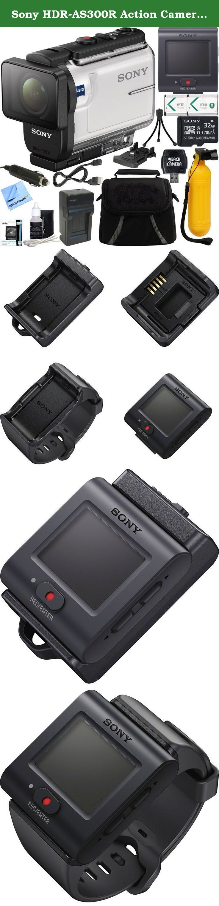 Sony HDR-AS300R Action Camera + Live View Remote & 32GB Accessory Bundle. Stunningly stable images with Balanced Optical SteadyShot. Make Full HD POV movies of travel and everyday fun. Capture stable images as never before with Balanced Optical SteadyShot. Shoot anywhere with Action Cam real-world rugged design. Action Cam and Live-View Remote team up More than just wristwear, this compact new remote controller also doubles as a mountable controller for convenient use with many optional...