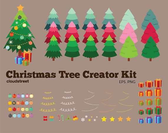 buy 2 get 1 free Christmas tree Creator Kit by cloudstreetlab, $4.95