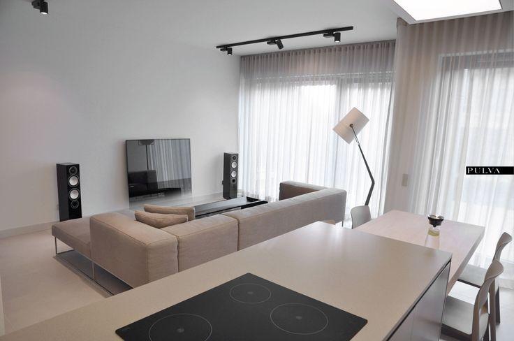 minimalistic interior design, living room, Living Divani, Porro, Foscarini, kitchen, Vitra