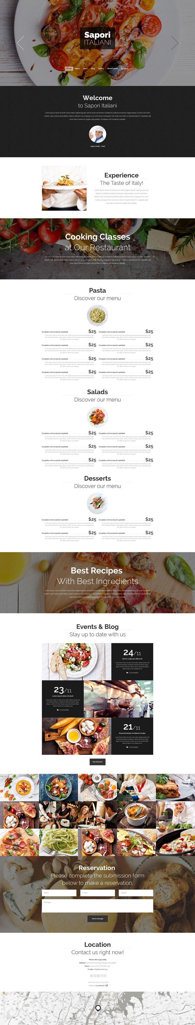 Italian #Restaurant Drupal Website Theme (#PSD, #HTML5, #JS, #CSS3)