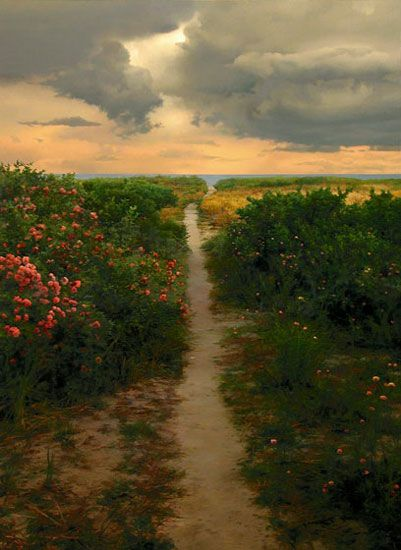 Path to the Beach - Scott Prior, 2003  35 x 26 inches  oil on panel