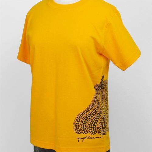 草間彌生 Tシャツ [かぼちゃサイドプリント(黄)]|ラムフロム - アートグッズ&デザイングッズの通販サイト -