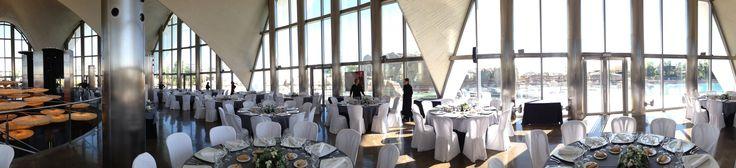 #Foto #panorámica del montaje del #evento que se celebró en la parte superior del #Restaurante Submarino. #Oceanografic #Valencia  www.restaurantesubmarino.es