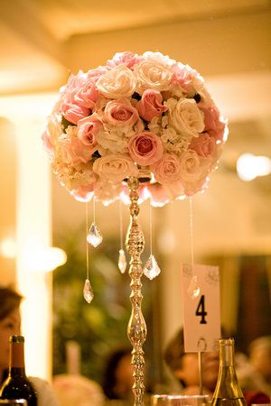 pink reception wedding flowers,  wedding decor, wedding flower centerpiece, wedding flower arrangement, add pic source on comment and we will update it. www.myfloweraffair.com can create this beautiful wedding flower look.