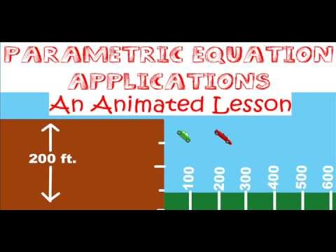 Parametric Equations & Their Applications: An Animated Lesson!  Watch a free 15-minute lesson on YouTube. If you like it, you can download your own copy for FREE at TeachersPayTeachers.com/Store/David-Robertson  --  If you want some interesting problems that will engage students, check this out!