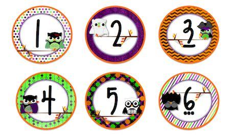 Classroom Freebies: Owl October Calendar Number Cards Freebie!  http://www.classroomfreebies.com/2012/09/owl-october-calendar-number-cards.html