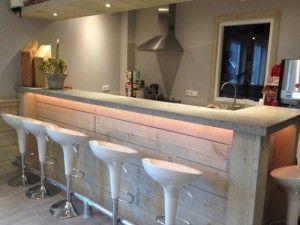 Bar van steigerhout google zoeken keuken pinterest meer idee n over bar zoeken en google - Een hoek thuis ...
