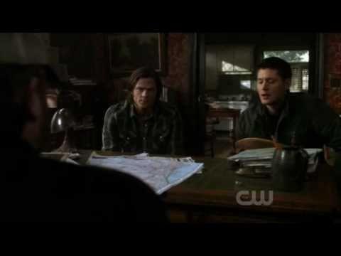 Supernatural 5x21 - Bobby Kisses Crowley
