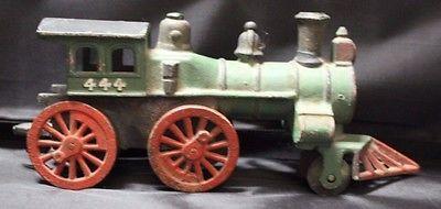 Cast Iron Hubley 4 pc Train Set Narcissus 44 Pennsylvania Railroad Engine 444