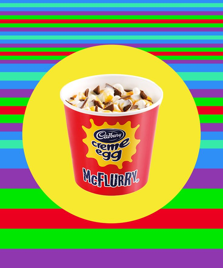 McDonalds Cadbury Creme Egg McFlurry | According to Mashable, the Cadbury Creme Egg McFlurry is currently a limited-edition flavor at locations in Australia. #refinery29 http://www.refinery29.com/2016/03/105055/mcdonalds-cadbury-creme-egg-mcflurry