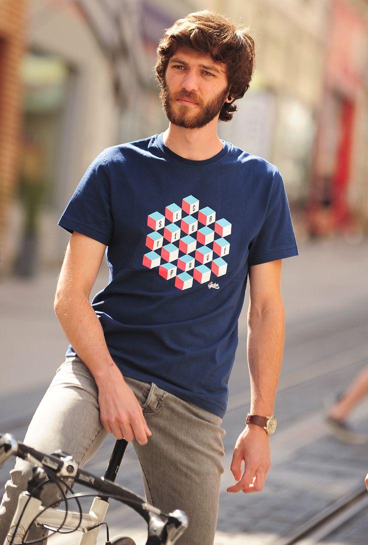 "CYCLAR® Cycling wear T-Shirt ""Secteur Pavé"" 100% Organic clothing"