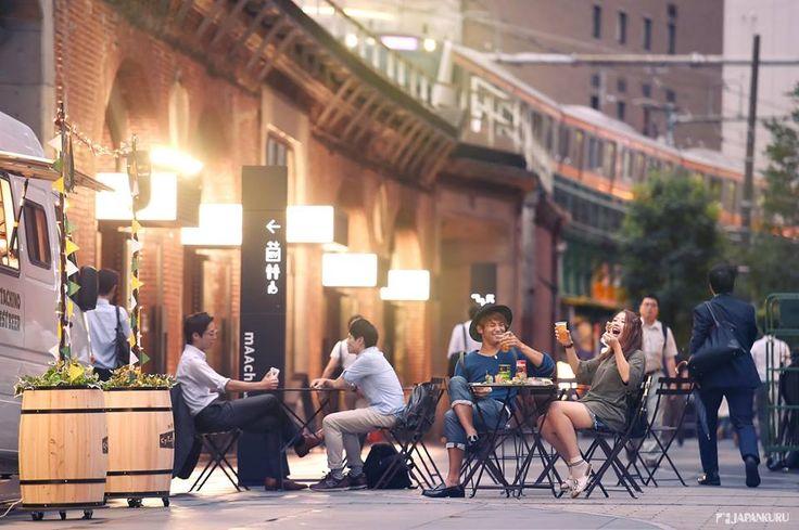 "Summer in Tokyo! ★""Beer Arch"" From 2016/7/19 - 2016/9/16 (Event space ""Tatazumai""will end on 2016/9/15) mAAch ecute KANDA MANSEIBASHI@Akihabara #japankuru #japan #beergarden #beer #mAAchecute #kanda #akihabara #秋葉原 #啤酒 #電車 #神田萬世橋"